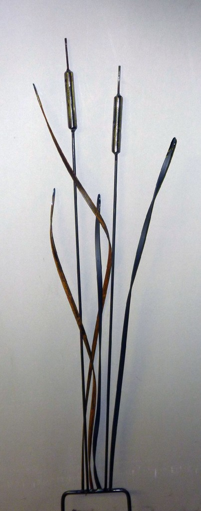 Double Bulrushes on spike $80